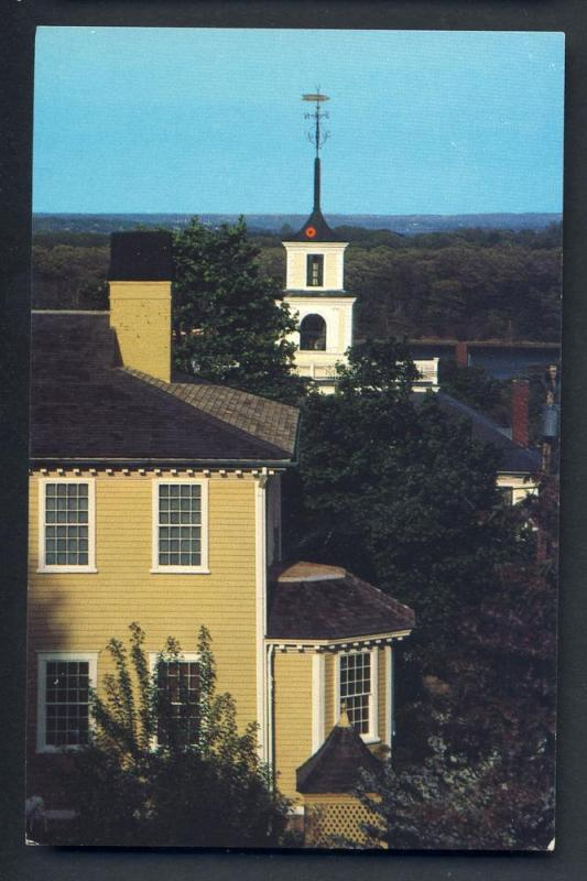 East Greenwich, Rhode Island/RI Postcard, Varnum House/Spire