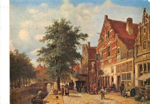 Netherlands Cornelis Springer (1817-1891) Stadsgezicht te Enkhuizen (1868)