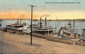LP27  Riverboats  Steamers Memphis  Tennessee Postcard Levee