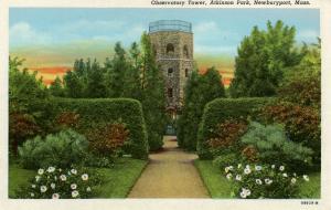 MA - Newburyport. Atkinson Park, Observatory Tower