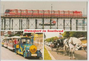 Essex; Transport In Southend Multiview PPC, Unposted, Lynn Tait 1988, Pier Etc