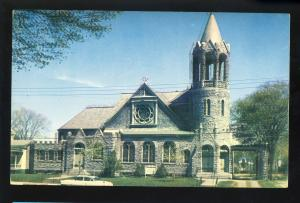 Ballston Spa, New York/NY Postcard, First Baptist Church