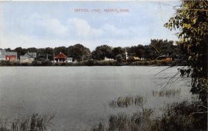 Morris Minnesota~Houses along Opposite Shore of Crystal Lake~c1910 Postcard