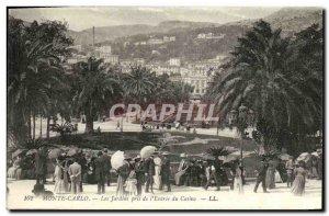 Old Postcard Monaco Monte Carlo Gardens outlet L Entree Casino