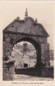 Spain Ronda Arco Romano y sillon del Rey Moro Real Photo