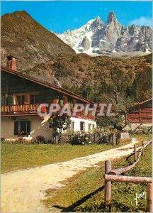 Modern Postcard Mont Blanc (Haute Savoie) Village des Bois (Le Dru and the Ai...