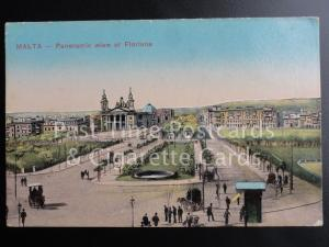 c1918 Malta: Panoramic Wiew (View) of Floriana