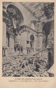 Chiesa Dei Carmelitani Scalzi After WW1 Bomb Damage in 1915 Venice Postcard