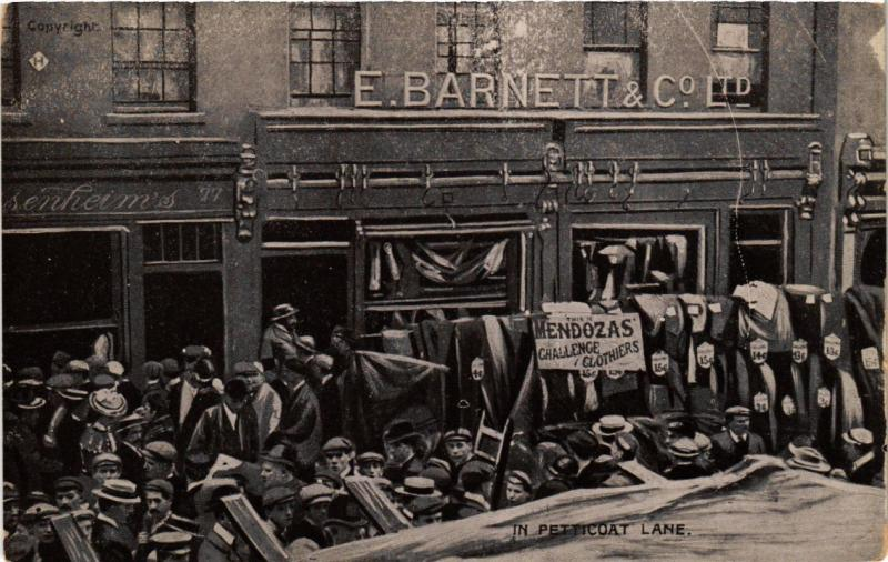 CPA AK JUDAICA E. Barnett & Co. Ltd. In Petticoat Lane (a1033)