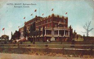 Hotel Brant, Burlington Beach, Burlington, Canada, Early Postcard, Used in 1907