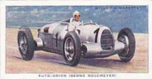 Wills Vintage Cigarette Card Speed No 23 Auto Union  1938
