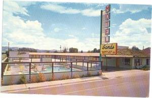 Sands Motel, Panguitch, Utah, UT, Chrome