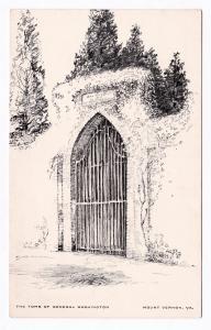 1930 Mount Vernon VA The Tomb of General George Washington Mt. Art RARE Postcard