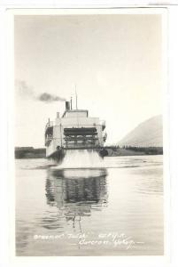 RP: Stern-Wheel of Steamer TUTSHI , W.P.Y.R., Carcross , Yukon , Canada , 2...