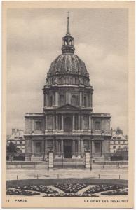 France, PARIS, Le Dome des Invalides, 1945 used Postcard