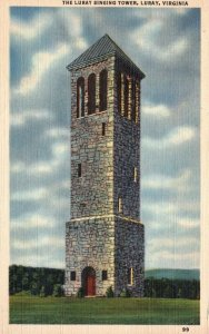 Luray, Vintage VA, Luray Singing Tower, 1945 Linen Vintage Postcard g8162