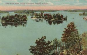 THOUSAND ISLANDS, Ontario, Canada, PU-1913; View from Echo Lodge