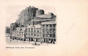 Edinburgh Castle from Grassmarket, Edinburgh, Scotland, Early Postcard, Unused