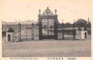 Tokyo Japan Palace of Crown Prince Gates Antique Postcard JD228046