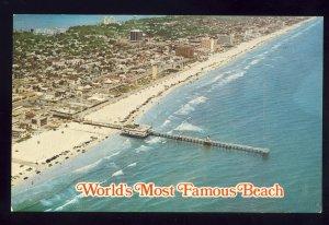 Daytona Beach, Florida/FL Postcard, Aerial View Of Broadwalk & Beach