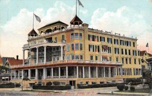Asbury Park New Jersey Lafayette Hotel Street View Antique Postcard K61490