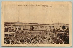 Geddes-Syracuse NY~State Fair Crowd Gathers @ Bandstand~Grange & Dairy Buildings