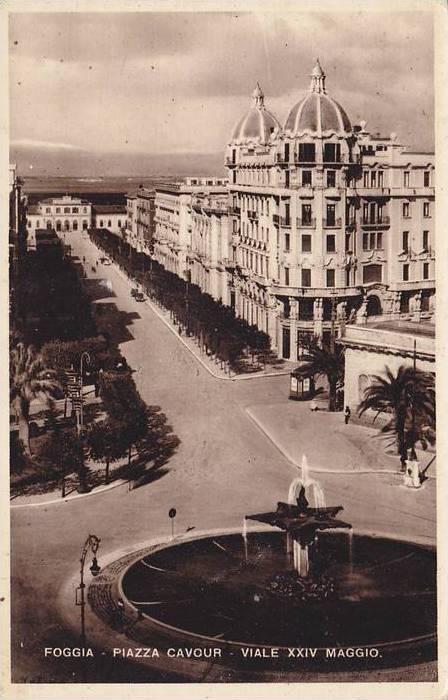 RP, Piazza Cavour, Viale XXIV Maggio, Foggia (Puglia), Spain, 1920-1940s
