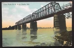 Union Pacific RR Bridge Omaha Neb 1909 Barkalow Bros