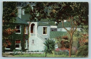 Postcard New Zealand Kawau Residence Of Sir George Grey c1909 AD6
