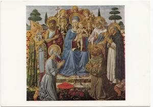 BENOZZO di Lese, The Virgin and Child Enthorned among Angels and Saints