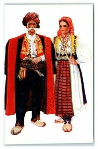 Postcard Artist Vladimir Kirin - Yugoslavia - Ethnic Costume F5 * 5