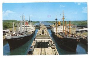 Panama Canal Ships in Locks 1979 Stamps