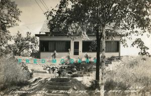 1945 Moose Lake Minnesota Real Photo Postcard: Cedarwild Lodge, Near Deer River