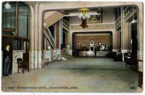 Lobby Montrose Hotel, Cedar Rapids IA