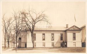 <A14> MAINE Me Real Photo RPPC Postcard c1920 DEXTER? Church Building