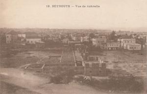 B80634 beyrouth vue de aohrafie  liban lebanon front/back image
