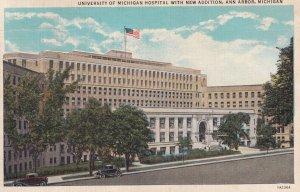 ANN ARBOR, Michigan, PU-1936; University Of Michigan Hospital With New Addition