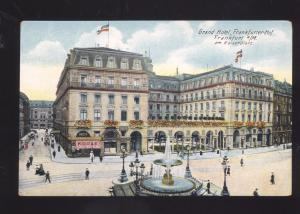 GRAND HOTEL FRANFURTER HOF FRANKFURT GERMANY ANTIQUE VINTAGE POSTCARD