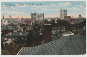SAVANNAH GA BUSINESS SECTION 1915 Postcard