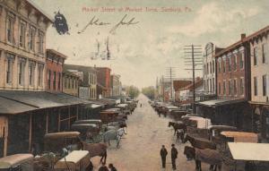 SUNBURY ,Pennsylvania , 1908 ; Market Street at Market Time