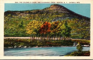 New York Catskills Hunter The Colonel's Chair and Schonarie Creek