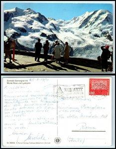 SWITZERLAND Postcard - Zermatt Gornergrat mit Monte Rosa und Lyskamm FF