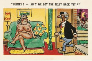 Pedro.Blimey!. An't we got the telly.. Humorous saucy English seaside comic PC