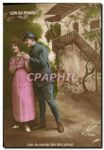Old Postcard Far From The World Of Jealous Far Army