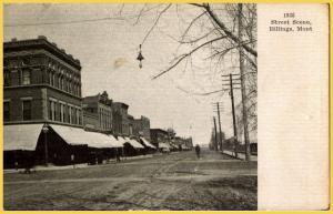 Very Early Street Scene in Billings Montana -