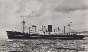 SS Coromandel Cruise Ship Plain Back Postcard