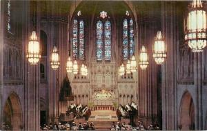 Pittsburgh Pennsylvania~Inside E Liberty Presbyterian Church~Stained Glass 1950