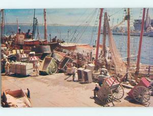 Pre-1980 VINTAGE CARTS AT THE FISHING PIER Boston Massachusetts MA hp4983