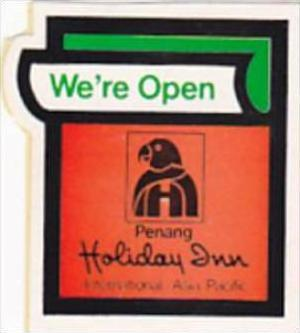 MALAYSIA PENANG HOLIDAY INN VINTAGE LUGGAGE LABEL