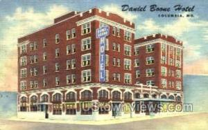 Daniel Boone Hotel Columbia MO 1951 missing stamp